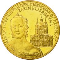 Russie, Medal, CCCP, Tsarine Elisabeth I, 1991, SPL+, Nickel-brass - Jetons & Médailles