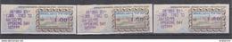 ISRAEL 1995 MASSAD ATM EUROPEAN STAMP EXHIBITION JERUSALEM 3000 OPENING DAY 1 1.5 1.8 SHEKELS - Franking Labels