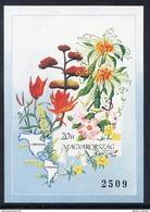 HUNGARY 1991 Flowers Of The Americas Imperforate Block MNH / **.  Michel Block 214B - Blocks & Sheetlets