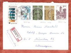 Einschreiben Reco, MiF Europa U.a., Bruessel Nach Muenchen 1971 (44720) - Belgien