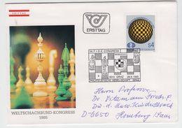 AUSTRIA 1985 CHESS FIDE CONGRESS GRAZ FDC - Ajedrez