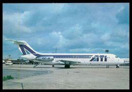 AIRPLANES - MODERN ERA- AERO TRANSPORTI ITALIANI DC-9-32(I-DIKS)Paris Orly( Ed. P.I. Nº 503)   Carte Postale - 1946-....: Moderne