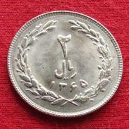 Iran 2 Rials 1986 / 1365 KM# 1233  Lt 382  Irão Persia Persien - Iran