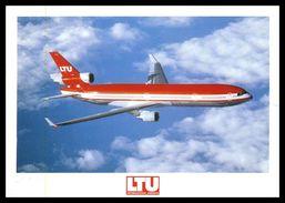 AIRPLANES - MODERN ERA- LTU International Airways.- MD 11.  Carte Postale - 1946-....: Moderne