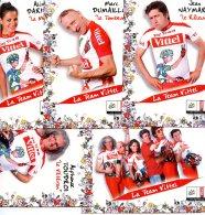6552 Cp Cyclisme 5 Cartes Team Vittel - Cyclisme