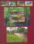 Papouasie Et Nlle Guinée YV 1405/8 Et BF 102 Et 103 N 2011 Lézards - Reptiles & Batraciens