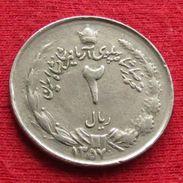 Iran 2 Rials 1978 / SH 1357 KM# 1174  Lt 425 RARE Irão Persia Persien - Iran
