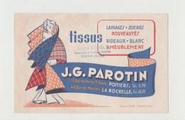 BUVARD J. G. PAROTIN Tissus - Tampon André ECAULT Représentant De La Maison PAROTIN , OIRON - Textile & Clothing
