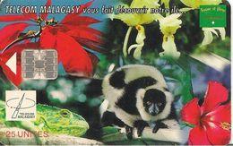 CARTE+ PUCE-25U-SC7-12/00-MADAGASCAR-FAUNE Et FLORE--TBE - Madagascar