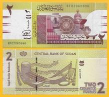Sudan 2 Pounds P-71b 2015 UNC - Soudan