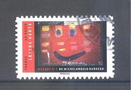 France Autoadhésif Oblitéré N°1398 (Masques De Michelangelo Durazzo) (cachet Rond) - France