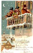 A Happy New Year MusiciensMusicians Trompette Trumpet  Orchestre Orchestra - USA - Voeux Pour 1904 - Anno Nuovo
