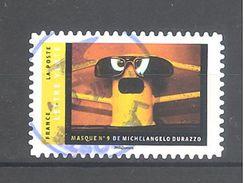 France Autoadhésif Oblitéré N°1401 (Masques De Michelangelo Durazzo) (cachet Rond) - Usati