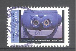France Autoadhésif Oblitéré N°1405 (Masques De Michelangelo Durazzo) (cachet Rond) - Oblitérés