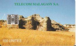 CARTE+ PUCE-100U--SC7-MADAGASCAR-MIASA HO ANAO-V° N° Rouge En Bas A Gauche-3 Adresses-TBE - Madagascar