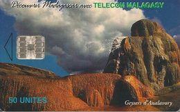 CARTE+ PUCE-50U--SC7-MADAGACAR-GEYSERS D ANALAVORY-Série 100000ex-TBE - Madagascar