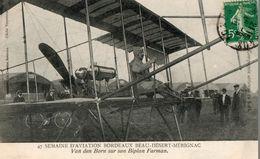 CPA Van Den Born Sur Son Biplan Farman. Semaine D'aviation Bordeaux Beau Désert, Mérignac, 1910. - ....-1914: Précurseurs