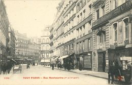 """Cpa Tout PARIS - Rue Montmartre (animée, Commerces) - N° 1134 """"Les Potages Maggi Sont Les Meilleurs"""" - France"""