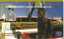 CARTE +PUCE-150U--SC7-MADAGASCAR-DOUCHE A BORD-03/99-50000Ex-UTILISE-TBE - Madagascar