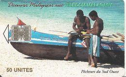 CARTE +PUCE-50U--SC7-MADAGASCAR-PECHEURS Du SUD OUEST-120000Ex-UTILISE-TBE - Madagascar