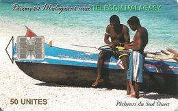 CARTE +PUCE-50U--SC7-MADAGASCAR-PECHEURS Du SUD OUEST-200000Ex-UTILISE-TBE - Madagascar