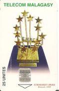CARTE +PUCE-25U--SC7-MADAGASCAR-EUROMARKET AWARD 1999 BRUSSELS-UTILISE-BE - Madagascar