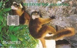 CARTE +PUCE-25U--SC7-MADAGASCAR-LEMURIENS-UTILISE-BE - Madagascar
