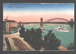 Bonn - Rheinbrücke - Schiff / Boat / Bateau - 1921 - Army Post Belgiën - Bonn