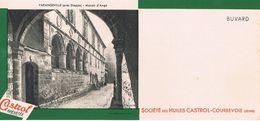 "ANCIEN BUVARD "" HUILES CASTROL"" - Varangeville - Manoir D'Ango (Seine-Maritime) - Gas, Garage, Oil"