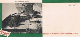 "ANCIEN BUVARD "" HUILES CASTROL"" - Estaing - Une Rue (Aveyron) - Gas, Garage, Oil"