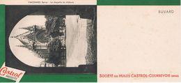 """ANCIEN BUVARD """" HUILES CASTROL"""" - Vincennes - La Chapelle Du Château (Seine) - Gas, Garage, Oil"""