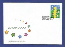 Polen / Polska  2000  Mi.Nr. 3829 , EUROPA CEPT - Kinder Bauen Einen Sternenturm - FDC - 09.05.2000 - Europa-CEPT