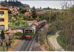 209 Treno DE 520-014 DB Schenker Bellavista Poggibonsi Locomotive Rairoad Treain Railways Siena - Stazioni Con Treni