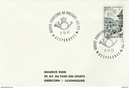 1967 LUXEMBOURG European POST PERSONNEL EVENT COVER Stamps - Luxembourg