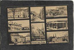 Prum,Germany-Eight View Multi,Grus Aus 1910s - Antique Postcard - Vari