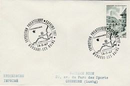 1967 Luxembourg EXPHIMO PHILATELIC EXHIBITION  COVER Mondorf Les Baines Event Stamps Map - Luxembourg