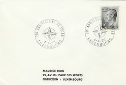 1969  Luxembourg NATO 20th Anniv EVENT COVER Stamps - Militaria