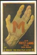"""Carte Postale : """"M"""" Le Maudit (affiche, Film, Cinéma) Fritz Lang (1931) - Plakate Auf Karten"""