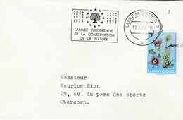 1970 LUXEMBOURG COVER SLOGAN Pmk EUROPEAN NATURE CONSERVATION YEAR Stamps FLOWER Flowers - Luxembourg