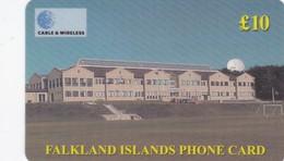 Falkland Islands, FK-C&W-PRE-0002, £10, 10th Anniversary Of The Community School, Satellite, 2 Scans - Falkland Islands