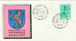 1967 Luxembourg GARDEN ALLOTMENTS CTF EVENT COVER Gardening Flower Flowers Stamps - Luxembourg
