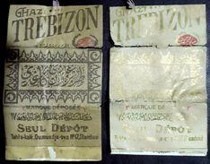 Turkey,Ottoman,2 PAPER OF CIGARETTES,Two Different Forms  #1915 Trebizon,V.. - Cigarette Holders