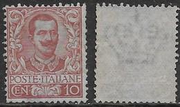 Italia Italy 1901 Regno Floreale C10 Sa N.71 Nuovo SG - Mint/hinged
