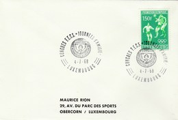 1968 LUXEMBOURG  SOROPTIMIST CONGRESS Event COVER Stamps 1.50f OLYMPIC FOOTBALL Soccer Stamps Olympics Games - Luxembourg