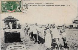 CPA Cote D'Ivoire Afrique Noire Type Ethnic Métier Du Bois Circulé - Dahomey