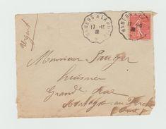 Devant D'enveloppe - Cachet Convoyeur MAMERS - Marcophilie (Lettres)