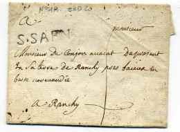 MP  SAINT SAENS / Dept 74 Seine Inférieure / Ind 20 Cote 450€ - 1701-1800: Precursores XVIII