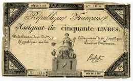Révolution Française / ASSIGNAT  De Cinquante Livres  Série 1101 N°1616  Signature Hubert - 1701-1800: Precursores XVIII