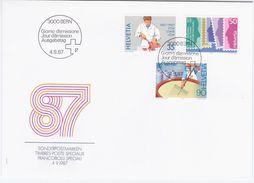 Switzerland Swiss Schweiz Svizzera Helvetia 1987 FDC Jahresereignisse, Formaggio, Cheese Making, Diary, Milk - FDC