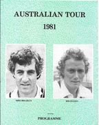 Australia Cricket Tour Of England 1981 - Souvenir Programme - Sports